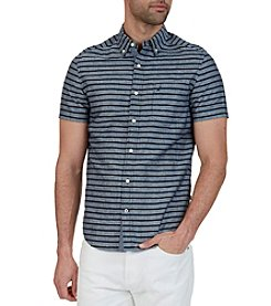 Nautica® Men's Classic Fit Striped Linen Blend Shirt