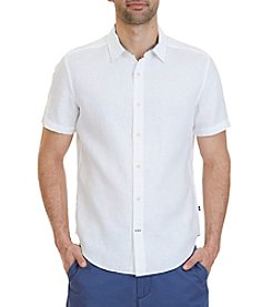 Nautica® Men's Classic Fit Linen Short Sleeve Shirt