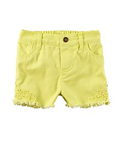 Carter's® Baby Girls' 12-24 Month Denim Lace Shorts