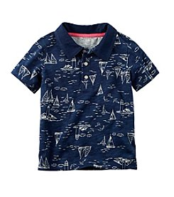 Carter's® Baby Boys' Sailboat Print Polo T-Shirt