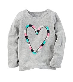 Carter's® Baby Girls' Heart Crewneck Top
