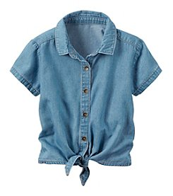 Carter's® Baby Girls' Chambray Tie Front Top