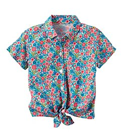 Carter's® Baby Girls' Floral Tie Front Top