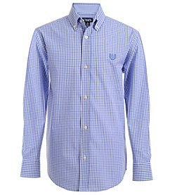 Chaps® Boys' 8-20 Gingham Button Up Shirt