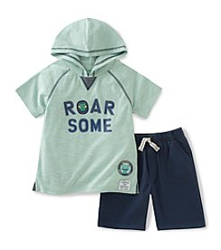 Kids Headquarters® Boys' 2T-7 2-Piece Roar Hood Shirt Set