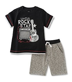 Kids Headquarters® Boys' 2T-7 2-Piece Lil Rockstar Knit Set