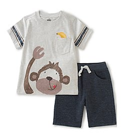 Kids Headquarters® Boys' 2T-4T 2-Piece Monkey & Banana Set