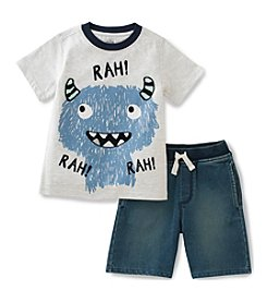 Kids Headquarters® Boys' 2T-7 2-Piece Rah Knit Short Set