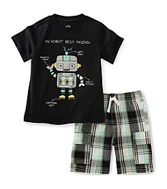 Kids Headquarters® Boys' 2T-7 2-Piece Robot Shirt Set