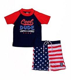 OshKosh B'Gosh® Boys' 4-7 2-Piece Americana Dude Swim Set
