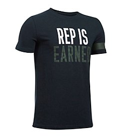 Under Armour® Boys' 8-20 Rep Is Earned Tee