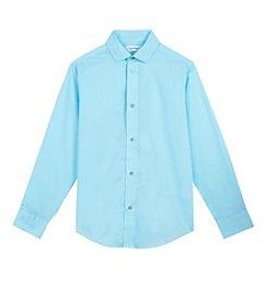 Calvin Klein Boys' 4-20 Sateen Shirt