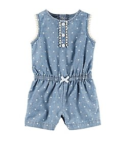 Carter's® Baby Girls' Denim Dot Romper