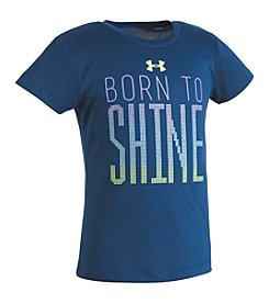 Under Armour® Girls' 2T-6X Born To Shine Tee