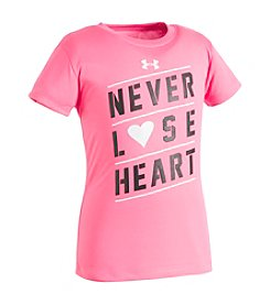 Under Armour® Girls' 2T-6X Never Lose Heart Tee
