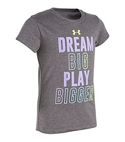 Under Armour® Girls' 2T-6X Dream Big Play Bigger Tee