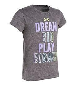 Under Armour® Girls' 2T-6X Dream Big Play Bigger Tee
