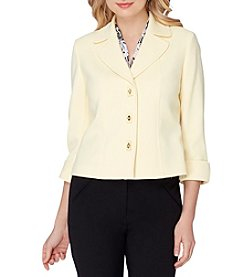 Tahari ASL® Ponte Knit Toggle Jacket