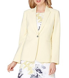 Tahari ASL® Single Button Jacket