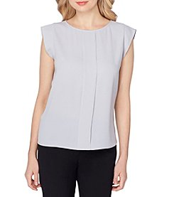 Tahari® Cap Sleeve Crepe Top
