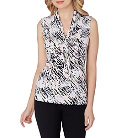 Tahari® Tie Neck Top