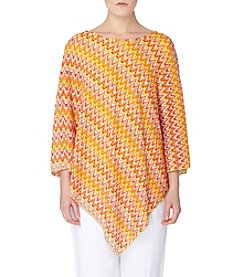 Joan Vass® Asymmetric Poncho Top