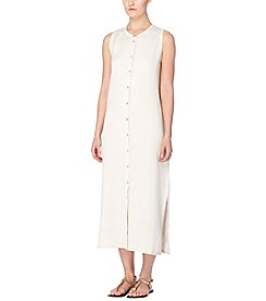 Joan Vass® Button Down Maxi Dress