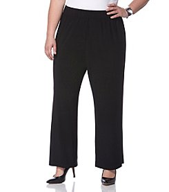 Rafaella® Plus Size Wide Leg Pull On Pants