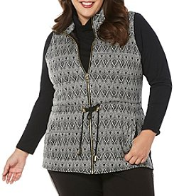 Rafaella® Plus Size Jacquard Vest