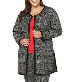Rafaella® Plus Size Jacquard Sweater