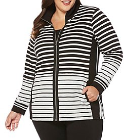 Rafaella® Plus Size Striped Sweater