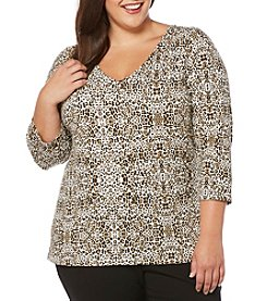 Rafaella® Plus Size V-neck Top