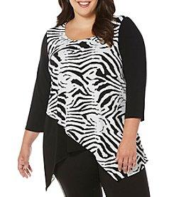 Rafaella® Plus Size Zebra Print Top