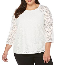 Rafaella® Plus Size Lace Top