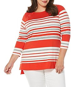 Rafaella® Plus Size Striped Shirt