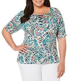 Rafaella® Plus Size Paisley Top