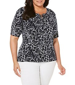 Rafaella® Plus Size Floral Top