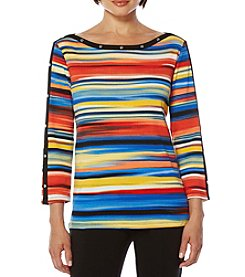Rafaella® Petites' Vacation Stripe Top