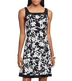 Chaps® Floral Fit And Flare Dress