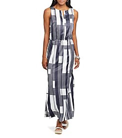 Chaps® Striped Maxi Dress