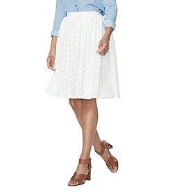 Chaps® Floral Crochet Skirt