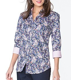 Chaps® Non-Iron Floral Sateen Shirt