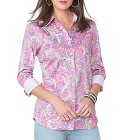 Chaps® Cheerful Paisley Woven Top