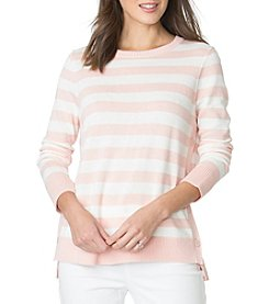 Chaps® Jersey Classic Stripe Button Sweater