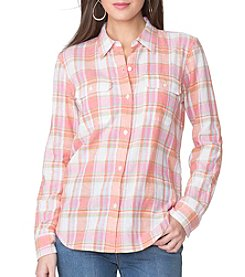 Chaps® Button Front Plaid Woven Shirt