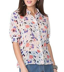 Chaps® Floral Georgette Shirt