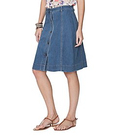 Chaps® Button Front Denim Skirt