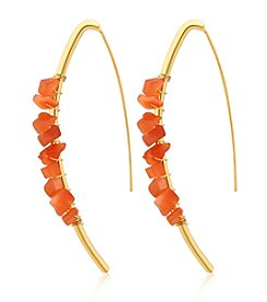 GUESS Shepard's Hook Stone Earrings