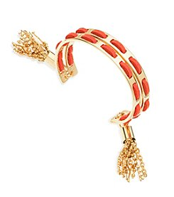 GUESS Suede Tassel Cuff Bracelet