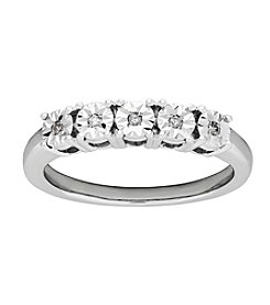 Sterling Silver 0.04 Ct. T.W.  Diamond Ring